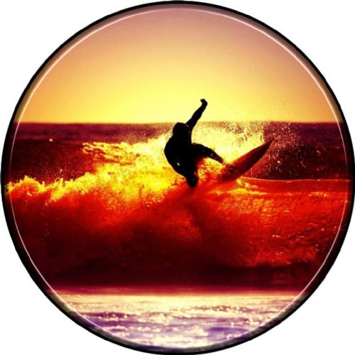 SURFER 4x4 Spare Wheel Cover DECAL STICKER